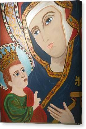 Madonna And Child Canvas Print by Demetria Kelley