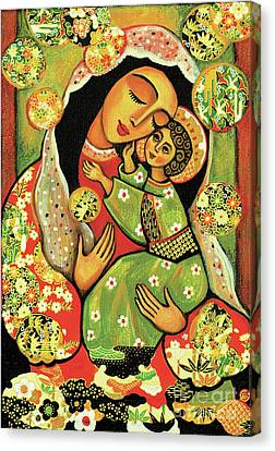Madonna And Child Canvas Print by Eva Campbell