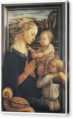 Madonna And Child Canvas Print by Fra Filippo Lippi