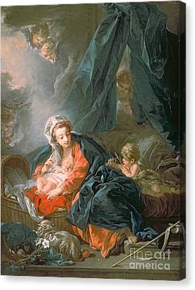 Drapery Canvas Print - Madonna And Child by Francois Boucher