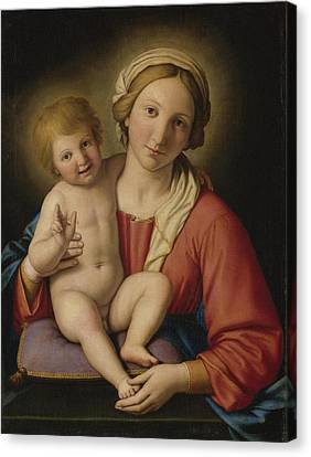 Madonna And Child Canvas Print by Celestial Images