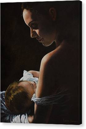 Madonna And Child Canvas Print by Harvie Brown