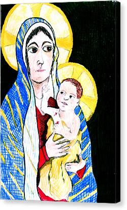 Madonna And Child Canvas Print by Jame Hayes