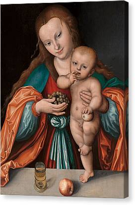 Madonna And Child Canvas Print by Mountain Dreams