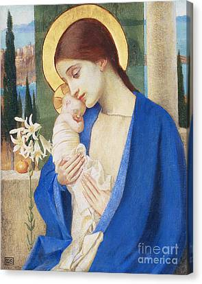 God Canvas Print - Madonna And Child by Marianne Stokes