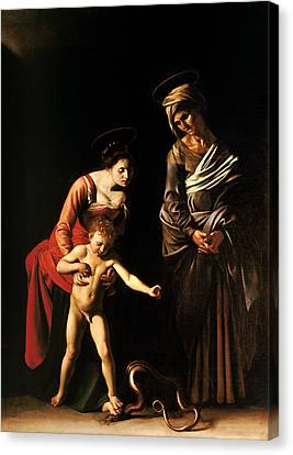 Madonna And Child With St. Anne Canvas Print