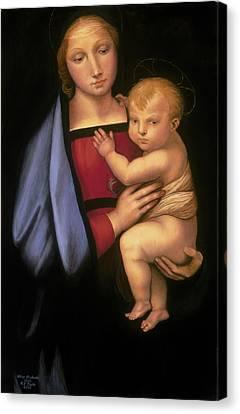 Madonna Del Granduca Canvas Print by Rebecca Poole