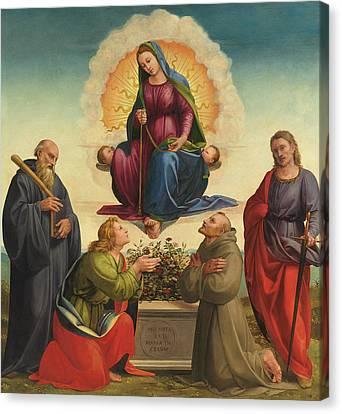 Madonna Delle Cintola Canvas Print by Francesco Granacci