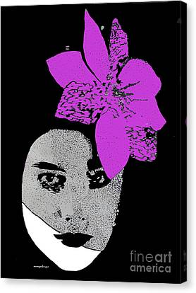 Madonna Girl Canvas Print by Nancy Mergybrower