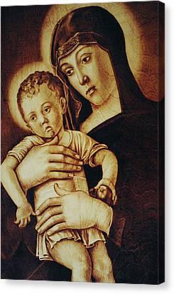 Madonna Greca - Detail Canvas Print by Dino Muradian