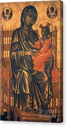Madonna Icon, 13th Century Canvas Print by Granger