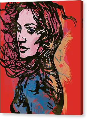 Madonna Pop Stylised Art Sketch Poster Canvas Print by Kim Wang