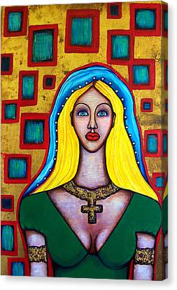 Madonna-putana Canvas Print by Brenda Higginson
