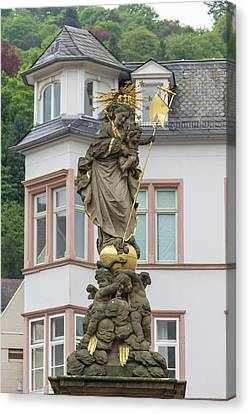Madonna Statue Heidelberg Germany Canvas Print by Teresa Mucha