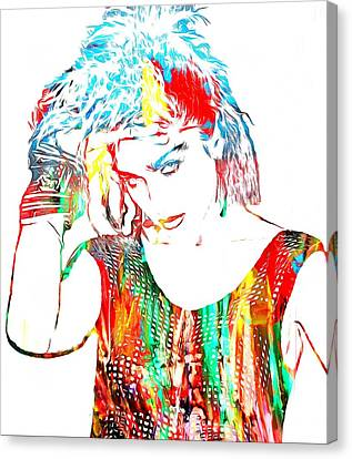 Madonna Watercolor Canvas Print by Dan Sproul