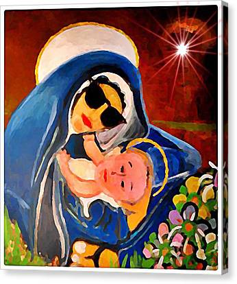 Premadonna With Child Canvas Print by Gregory McLaughlin