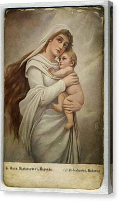 Madonna With Child Canvas Print by Gun Legler
