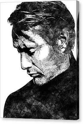 Mads Mikkelsen Canvas Print by Mihaela Pater