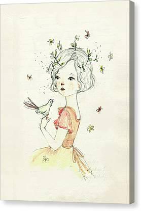 Mae Canvas Print by Paola Zakimi