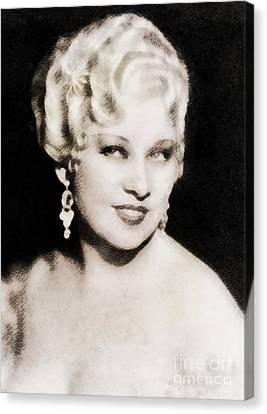 Mae West, Hollywood Legend By John Springfield Canvas Print by John Springfield