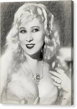 Mae West Canvas Print by Quim Abella