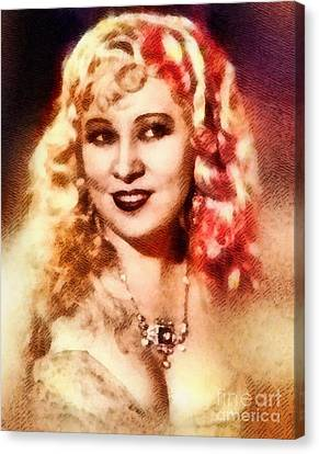 Mae West, Vintage Actress Canvas Print by John Springfield