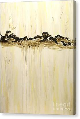 Maelstrom Original Contemporary Modern Abstract Painting Canvas Print by Itaya Lightbourne
