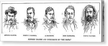 Mafia Leaders, C1890 Canvas Print by Granger