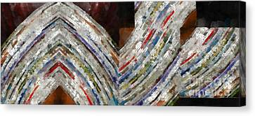 Mag 5 Abstract Painting Canvas Print by Edward Fielding