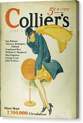 Collier Canvas Print - Magazine Cover, 1930 by Granger