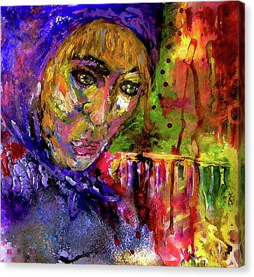 Canvas Print featuring the mixed media Magdalena by Lisa McKinney