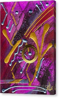 Magenta Joy Dreams Canvas Print by Angela L Walker