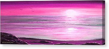 Magenta Panoramic Sunset Canvas Print