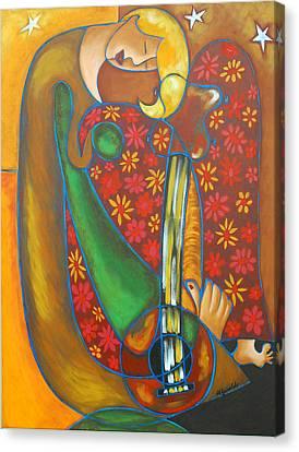 Maggie Guitar Canvas Print by Marta Giraldo