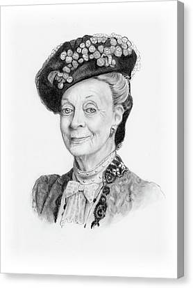 Maggie Smith As The Dowager Countess, Downton Abbey Canvas Print by Joyce Geleynse