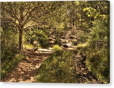 Canvas Print featuring the photograph Magic Bench by Tamyra Ayles