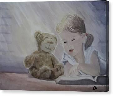 Magic Book Canvas Print by Annie Poitras