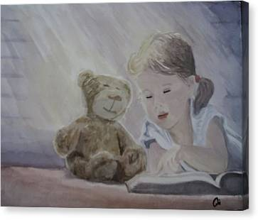 Magic Book Canvas Print