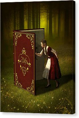 Nature Study Canvas Print - Magic Book Of Tales by Britta Glodde