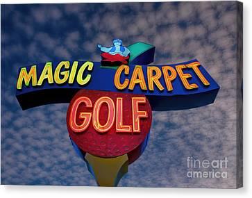 Magic Carpet Golf Canvas Print by Henry Kowalski