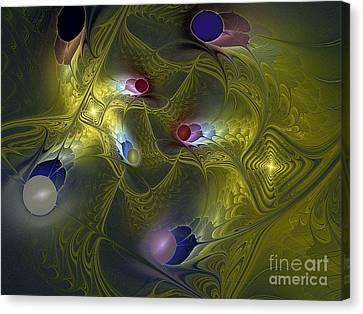 Canvas Print featuring the digital art Magic Carpet by Karin Kuhlmann