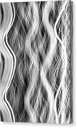 Magic Carpet Ride Bw Canvas Print