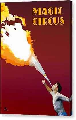 Magic Circus Canvas Print