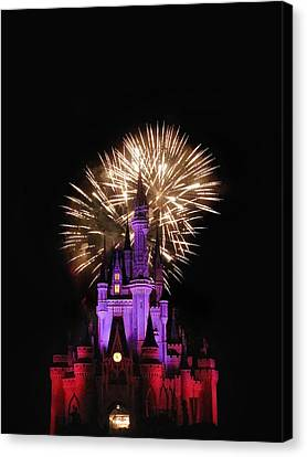 Magic Fireworks Canvas Print