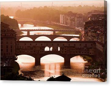 Magic Florence Canvas Print by Giuseppe Torre