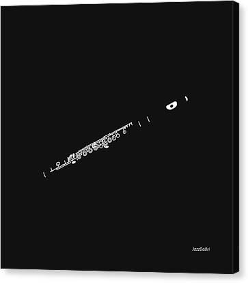 Magic Flute In Black Canvas Print by David Bridburg