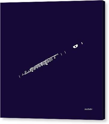 Magic Flute In Purple Canvas Print by David Bridburg