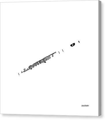 Magic Flute In White Canvas Print by David Bridburg