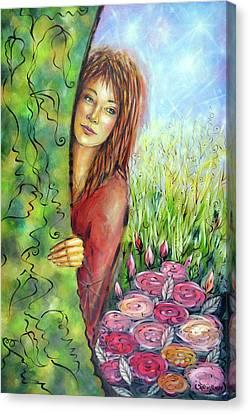 Magic Garden 021108 Canvas Print by Selena Boron
