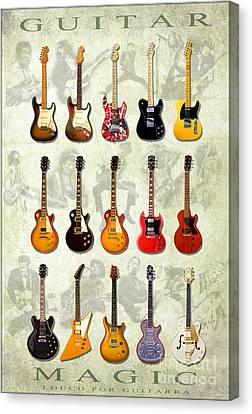 Magic Guitars Canvas Print by Pg Reproductions